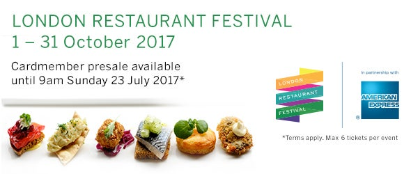 Find tickets for London Restaurant Festival