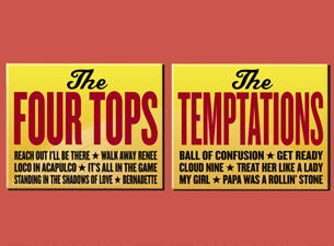 The Four Tops and Temptations Tickets