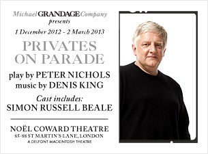 Privates on Parade Tickets
