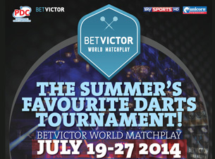2014 Bet Victor World Matchplay Darts Tickets