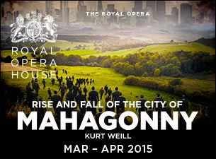 Rise and Fall of the City of Mahagonny Tickets