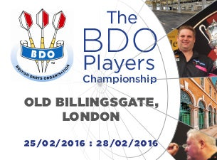 British Darts Organisation (BDO) Tickets