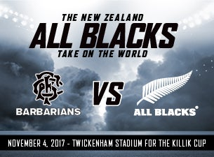 Barbarians V New Zealand Tickets