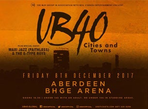 UB40 - Cities and Towns - Standing Tickets