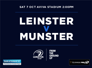 Guinness PRO14 - Leinster Rugby v Munster Rugby Tickets