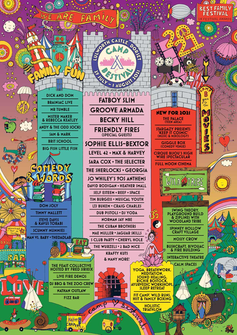 Camp Bestival Line-up Poster 2021