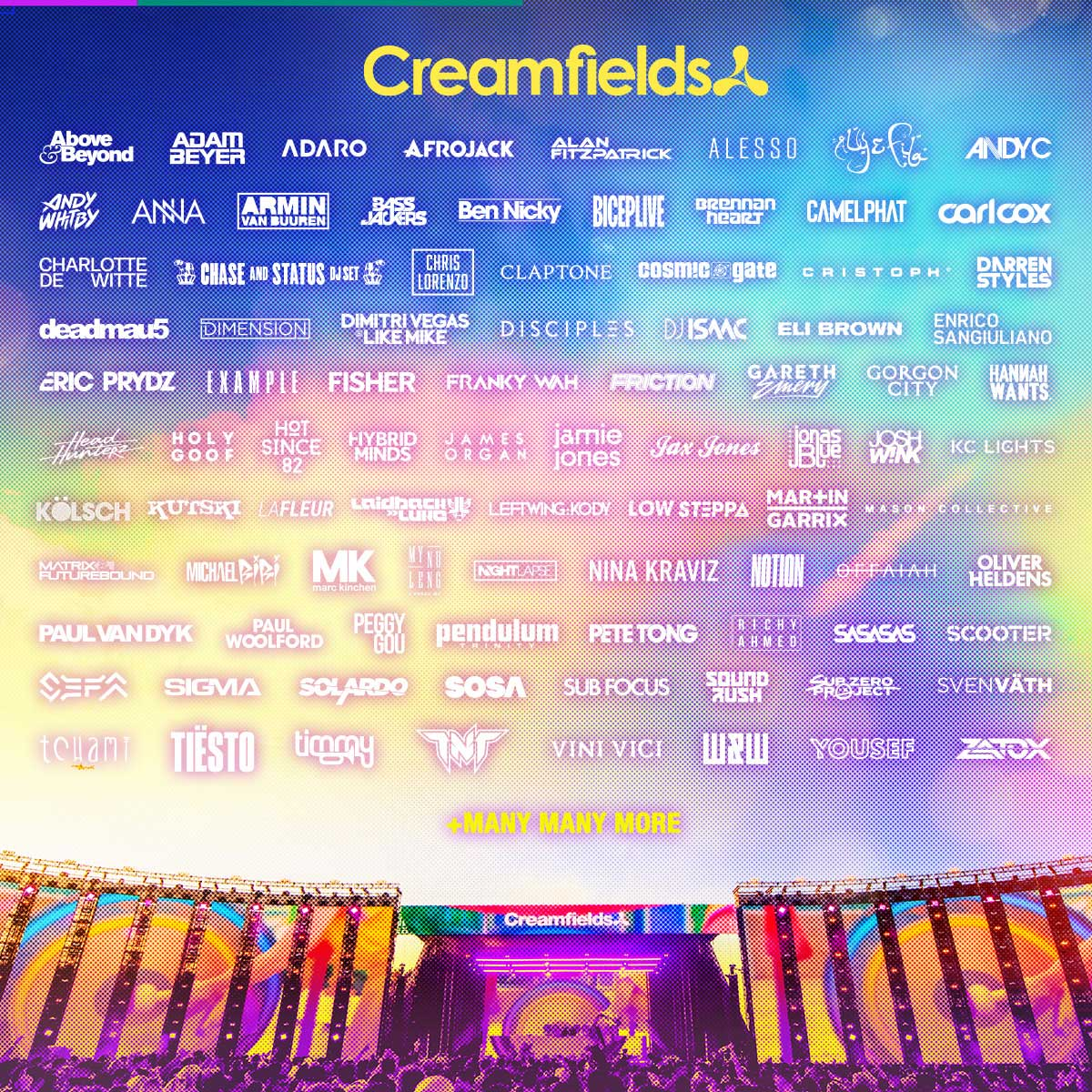 Creamfields Line-up Poster 2021