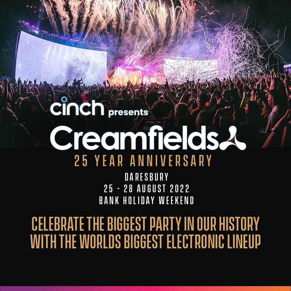 Creamfields Line-up Poster 2022