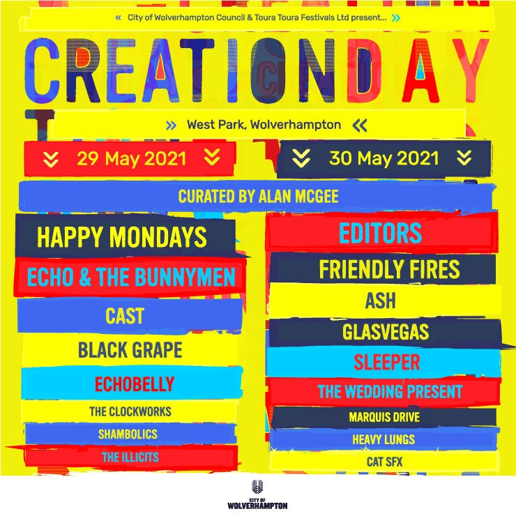 Creation Day Line-up Poster 2021