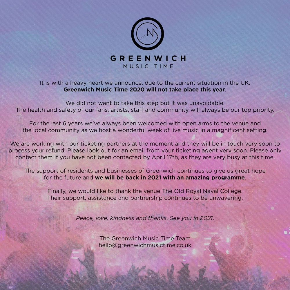 Greenwich Music Time 2020