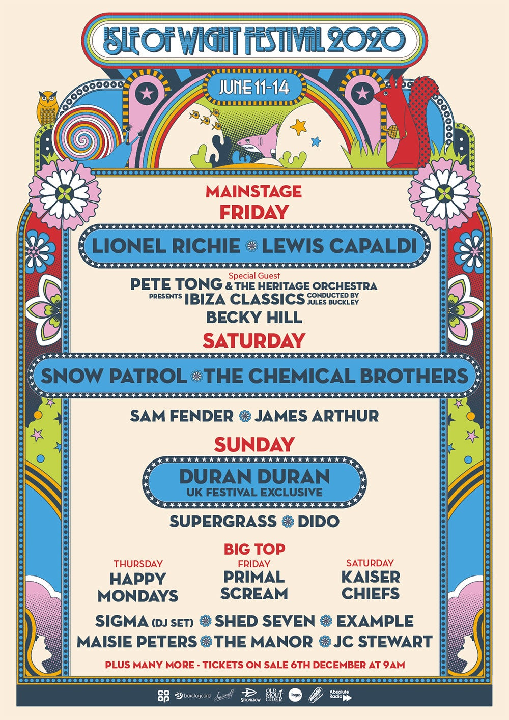 Isle of Wight Festival Line-up 2020