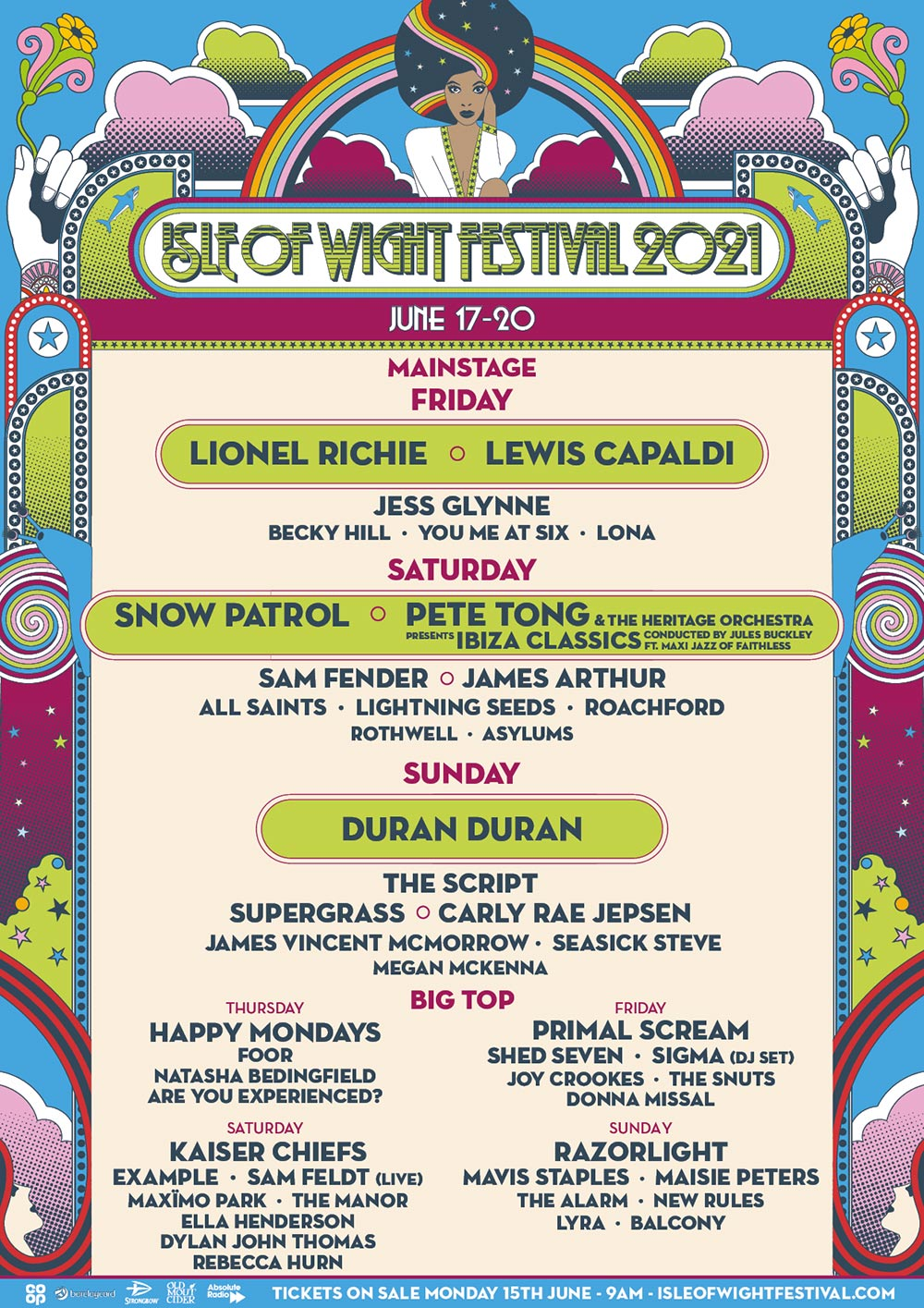 Isle of Wight Festival Line-up and music acts 2021