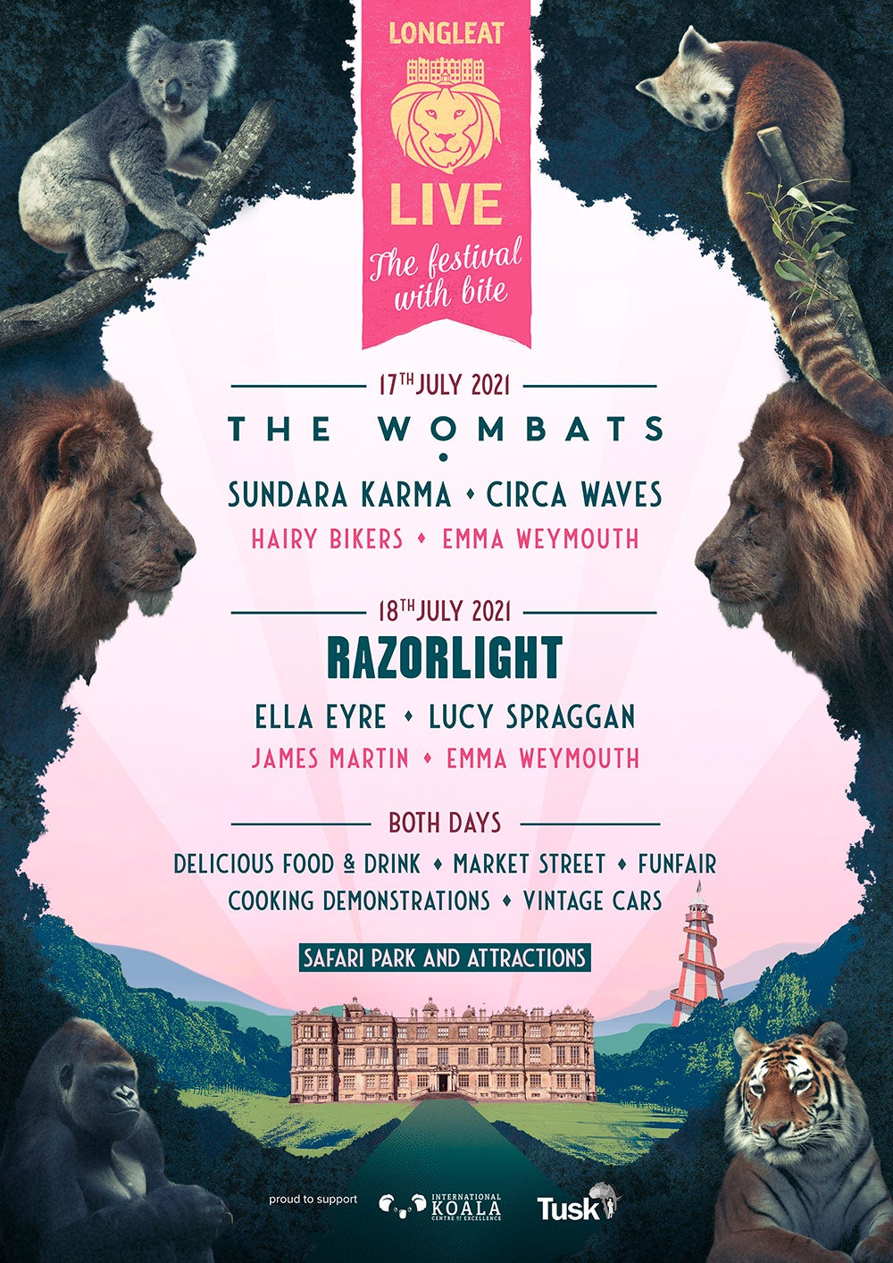 Longleat Live Festival Line-up and music acts 2020