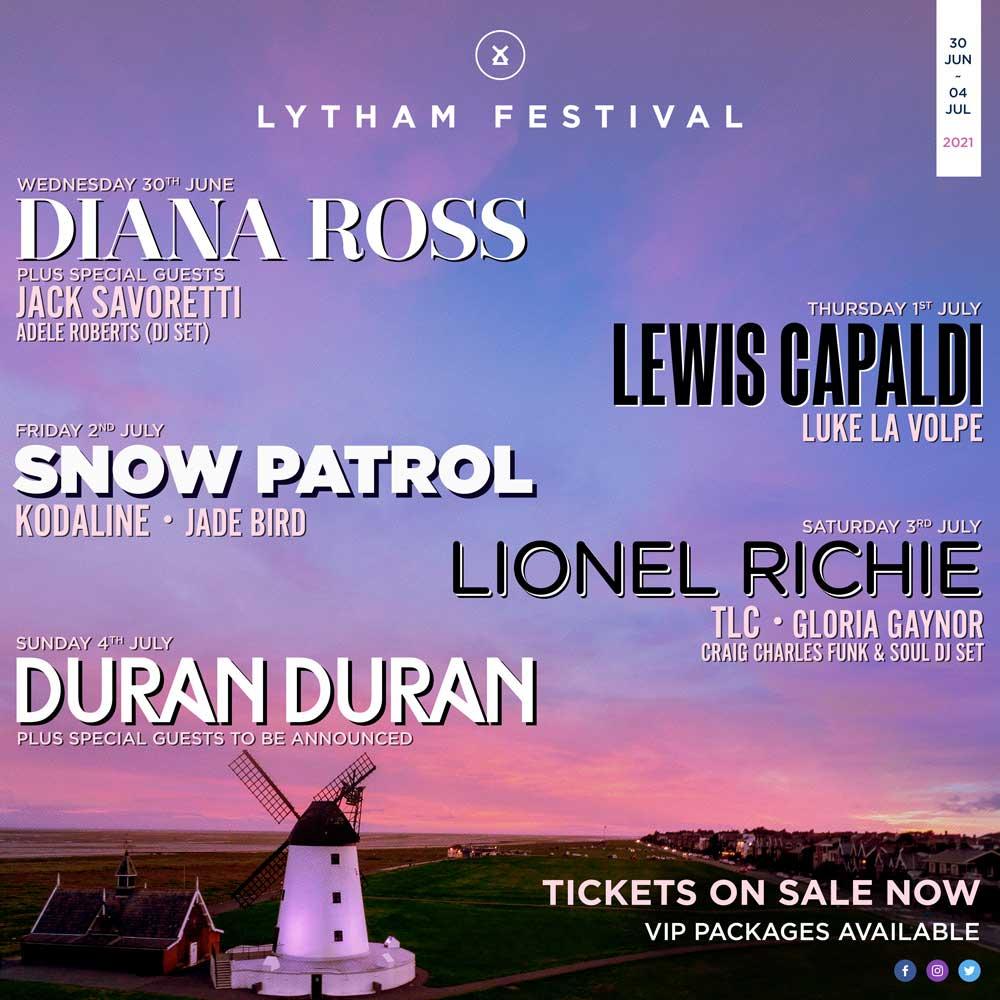 Lytham Festival Line-up Poster 2021