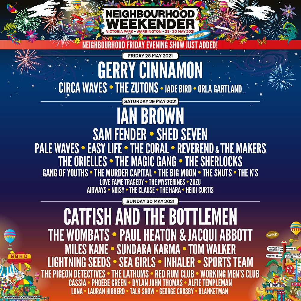 Line-up for Neighbourhood Weekender