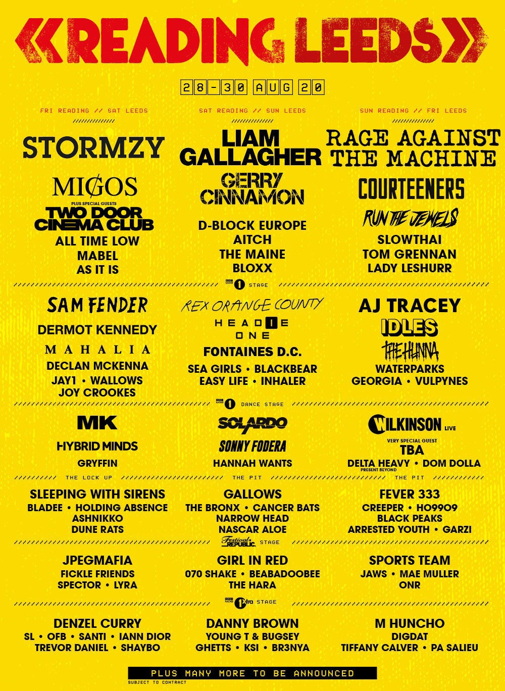 Programmation Reading festival 2020