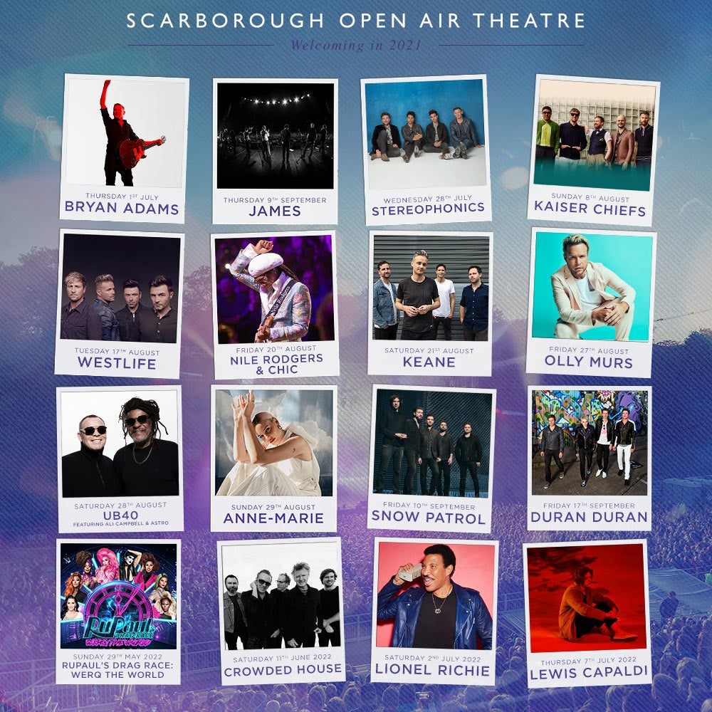Scarborough Open Air Theatre Line-up Poster 2021