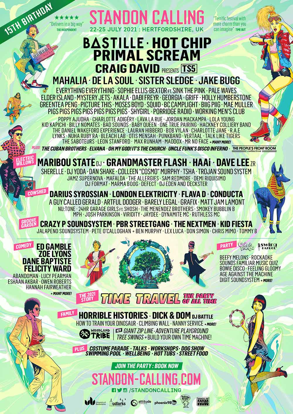 Standon Calling Line-up Poster 2021