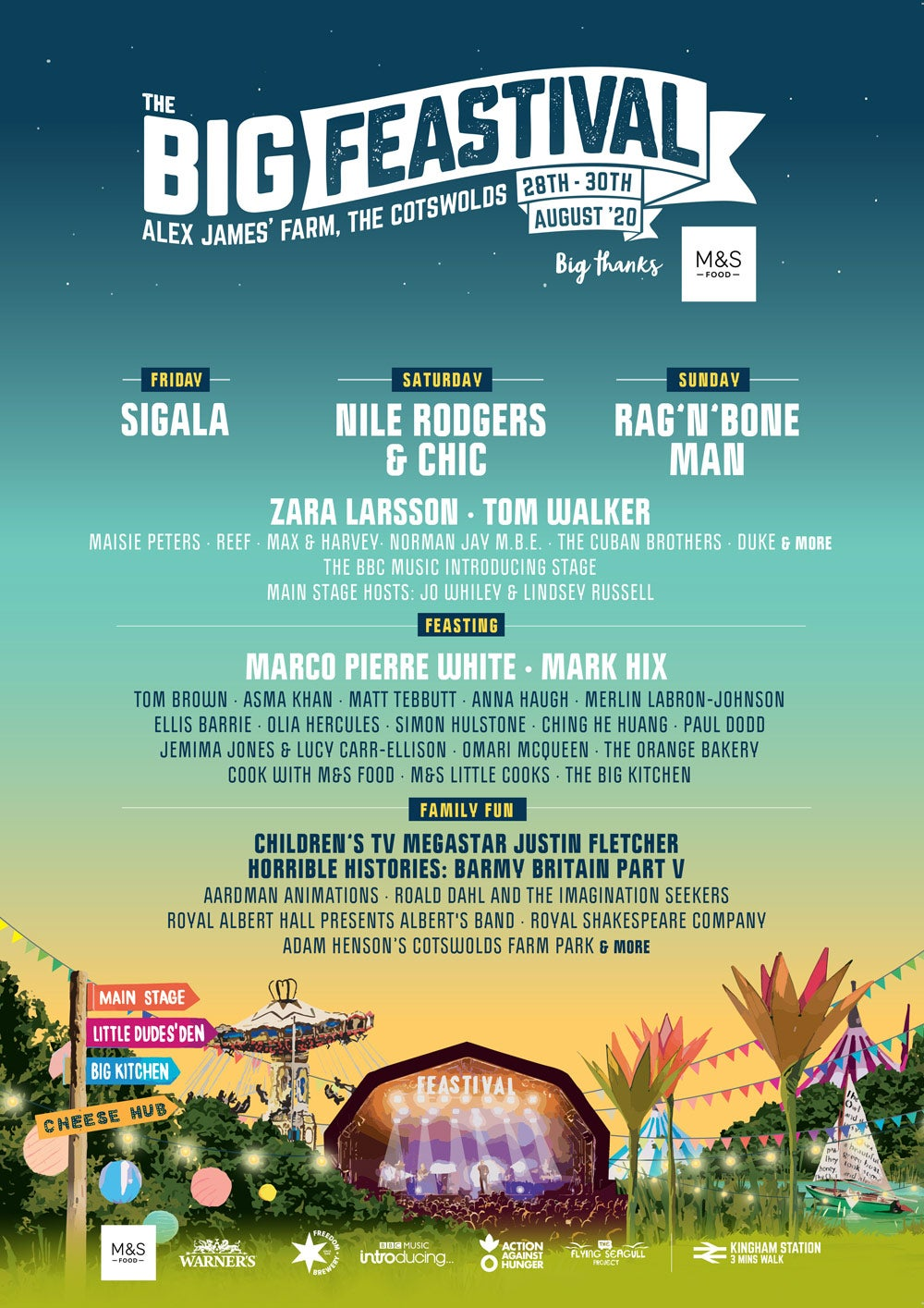 Line-up for The Big Feastival