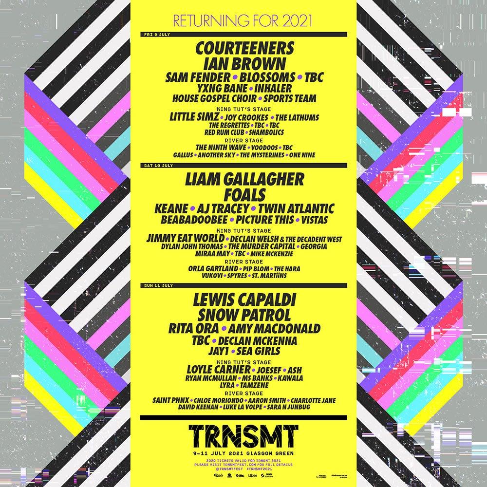 TRNSMT Line-up poster 2021