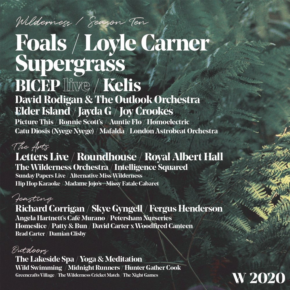 Wilderness Festival Line-up Poster 2020