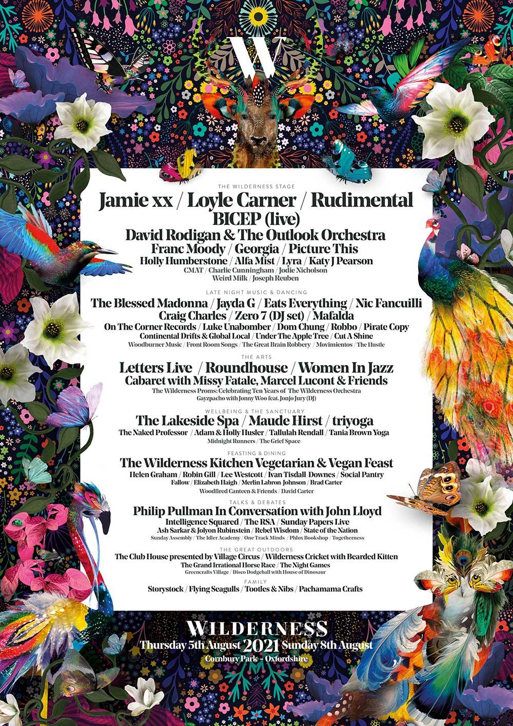 Wilderness Festival Line-up Poster 2021