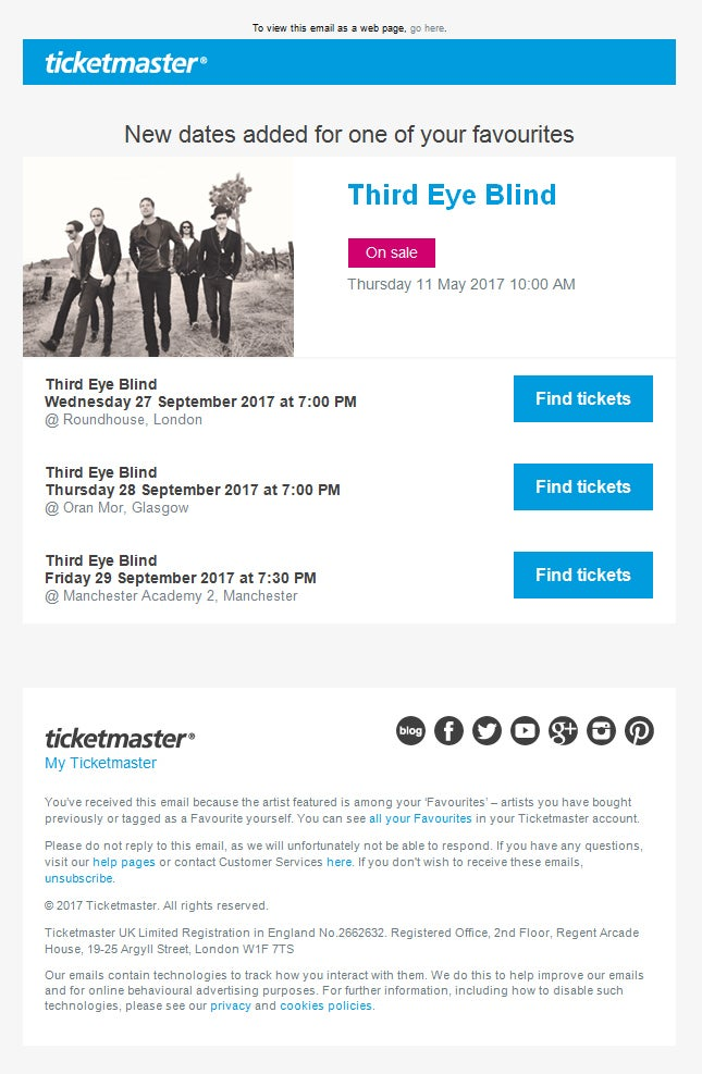 how to close ticketmaster account