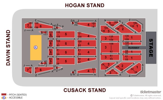 Ticketmaster Seating Plan Croke Park Elcho Table