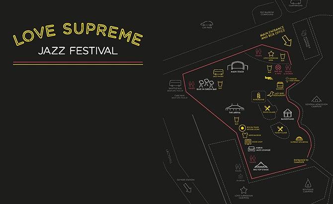 Seating Chart: Love Supreme Jazz Festival
