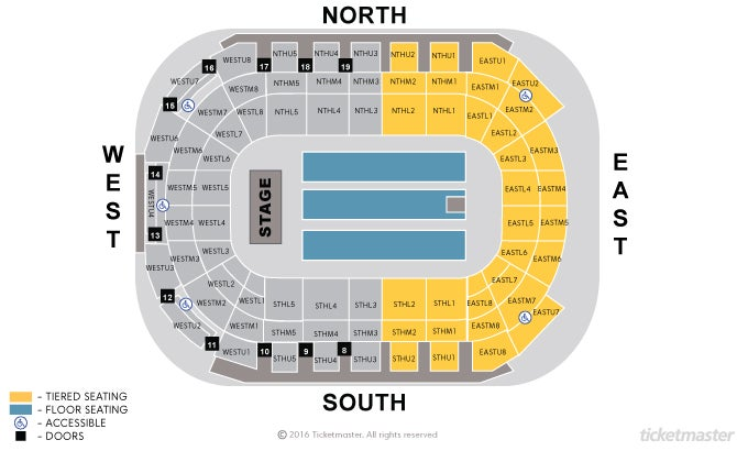 Odyssey Arena Floor Plan Sse Arena End Stage Seating Chart